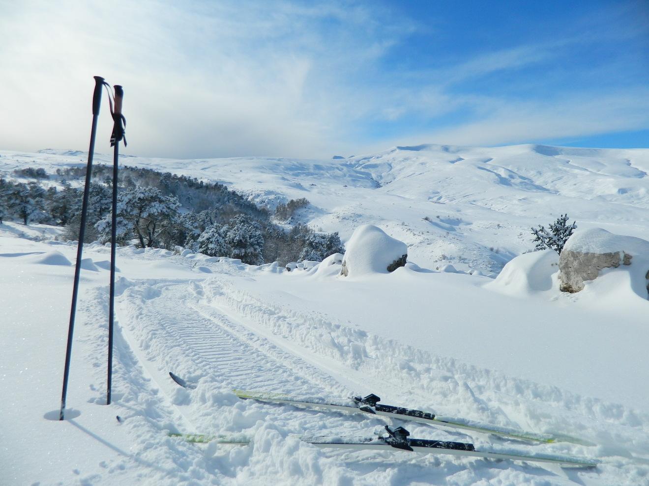 Беговые лыжи на Абадзеше, фото декабрь 2018 г.
