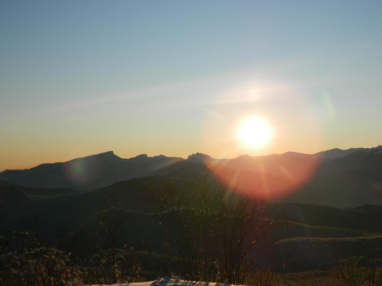 Рассвет на хр. Азиш-Тау, 05.12.19