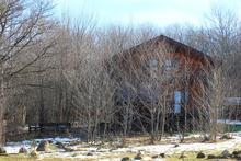 Большой гостевой дом Дрозды, спрятался за деревьями