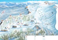 Схема трасс горнолыжного курорта Лаго-Наки, использование изображения возможно с разрешения администрации сайта отдыхвгорах.рф