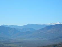 Вид на вершины Оштен, Нагой-Кош, Трезубец с хребта Уна-Коз, фото 07.11.18г.