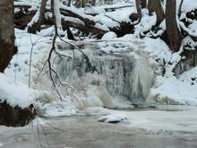 Водопад на р. Фарс, зима 2017