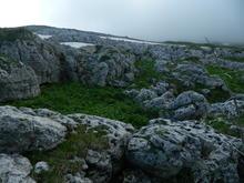 Хребет Каменное море, в пути к вершине Нагой-Кош
