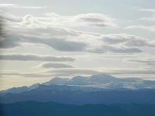 Вид со скалы Галкина на гг. Фишт, Оштен, Нагой-Кош, плато Лаго-Наки