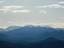 Вид со скалы Галкина на гг. Чугуш, Тыбга, Абаго, Пшекиш