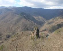 Скальный пик горы Трезубец