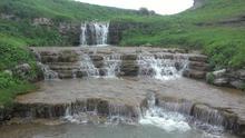 "Верхний каскад водопада ""Ступени мудрости"", фото июнь 2018 г."