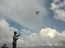 На утёсе Нагой-Кош почти всегда дует ветер, можно пустить воздушного змея