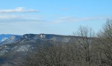 Скалистый хребет на Западном Кавказе