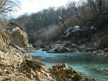 """У реки Белой в гостинично-туристском комплексе """"Водопады Руфабго"""""""