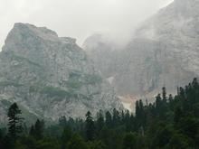 Скальный массив горы Фишт, юго-восточная стена