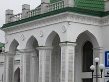 Образы города Майкопа, здание железнодорожного вокзала