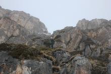 Спуск с вершины Нагой-Кош