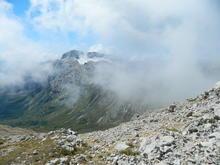 Сентябрь 2021 г. Фото из похода к вершине горы Оштен, вид на Фишт, фото Абрамов Д.В.