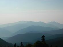Вид на Кавказские горы с пер. Узуруб, фото сентябрь 2018 г.