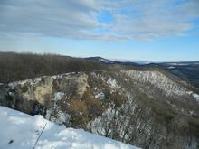 На вершине скалы Галкина